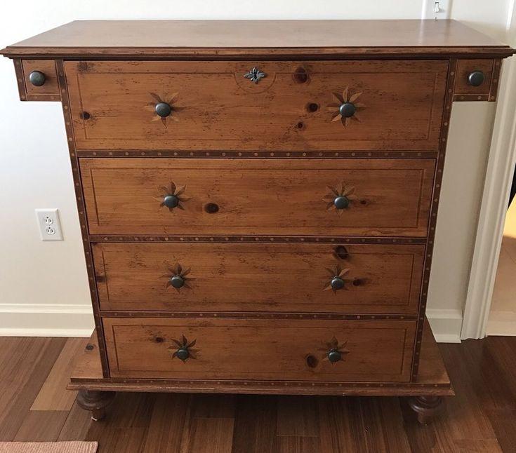 Baker Furniture Milling Road Handmade Dresser Chest Of Drawers 44x19x44 Tall