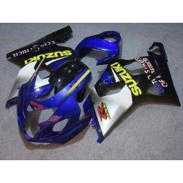 Suzuki GSX-R 600/750 2004-2005 K4 Injection ABS Fairing - Others - Silver/black body with blue headlight | $639.00