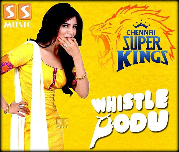 Samantha Ruth Prabhu Whistle Podu For Chennai Super Kings