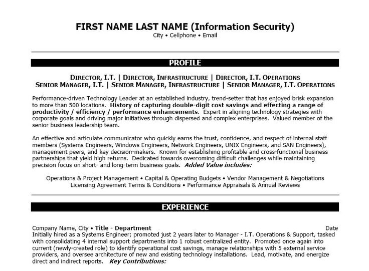 click here download information security resume template for internal promotion