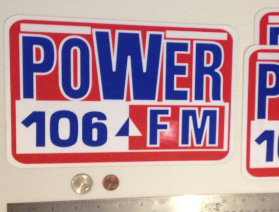 https://www.etsy.com/listing/272308808/power-106-fm-radio-station-custom-supply Power 106 FM radio station custom supply screened printed sport jersey uniform scripts kit label iron on tackle twill patch Super Large
