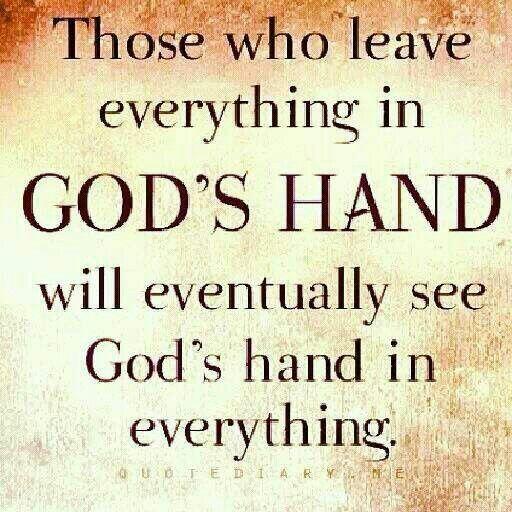 God's hand.