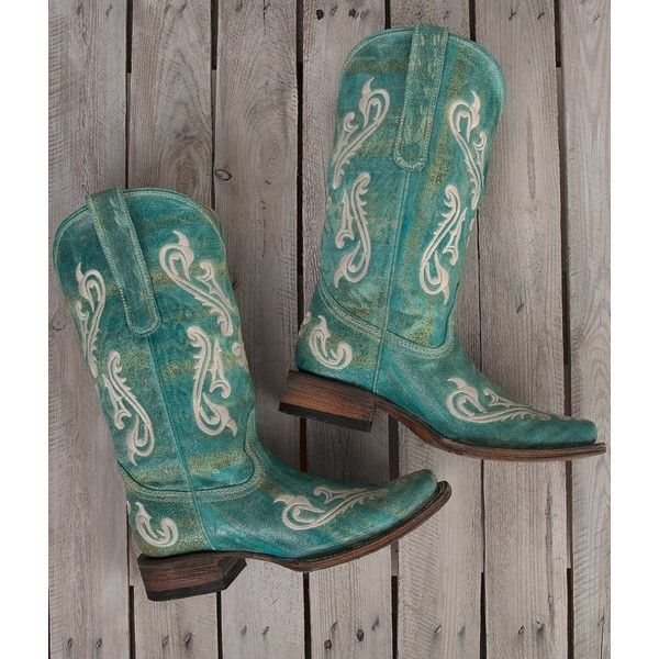 Corral Embroidered Square Toe Cowboy Boot ($70) ❤ liked on Polyvore featuring shoes, boots, ankle booties, turquoise, corral booties, corral boots, square toe cowboy boots, leather upper boots and embroidered boots