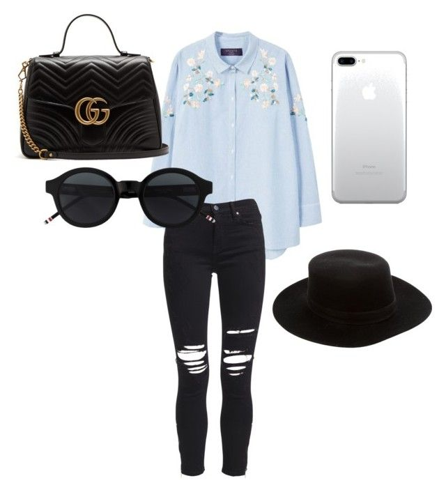 """Untitled #157"" by isagarcia18 on Polyvore featuring MANGO, AMIRI, Gucci and Janessa Leone"