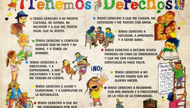 Poster con los derechos de los niños y las niñas