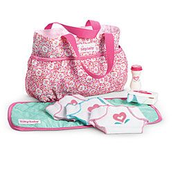 Big Sister Gift for S. American Girl® Accessories: Bitty's Diaper Bag Set