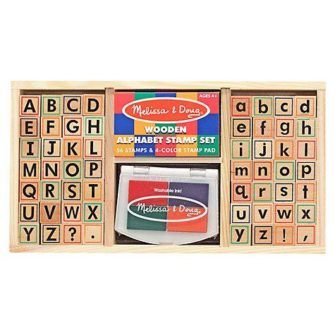 Buy Melissa & Doug Alphabet Stamp Set Online at johnlewis.com