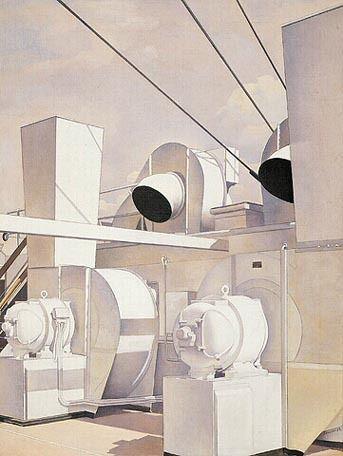'Upper Deck' (1929) by Charles Sheeler                                                                                                                                                                                 More