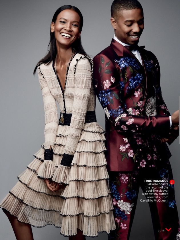 Liya Kebede and Michael B. Jordan for Vogue US August 2015 - Alexander McQueen
