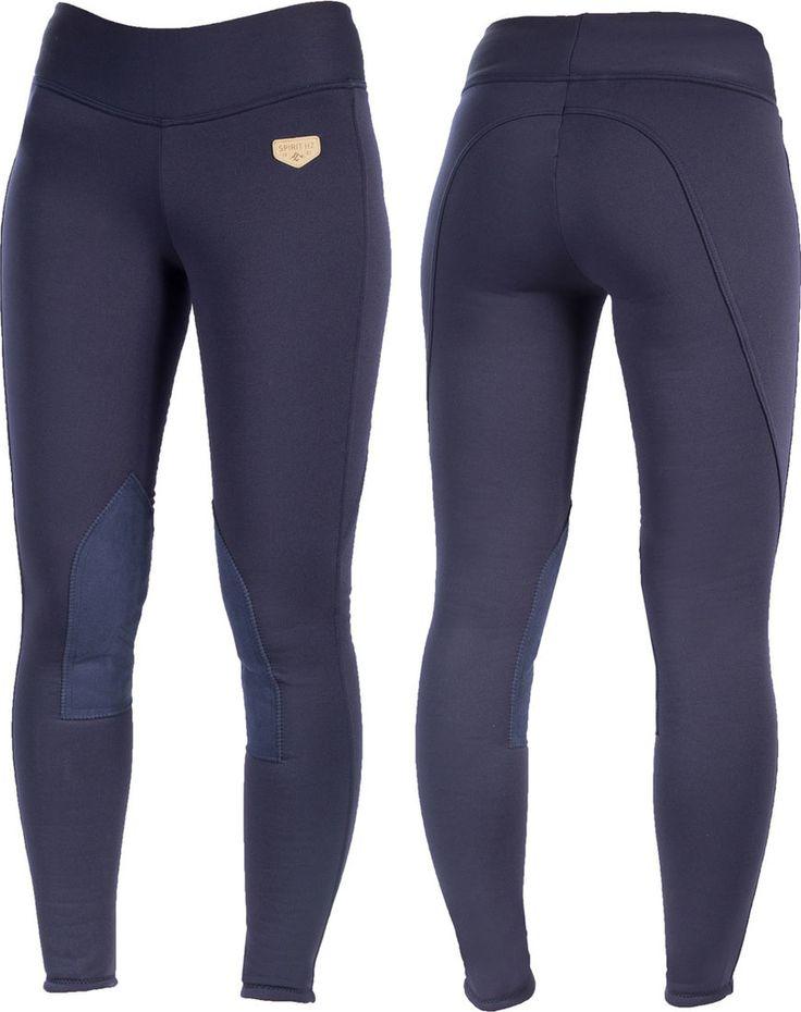Une culotte de style legging pull-on (à enfiler, sans fente à velcro en bas des jambes), dotée de belles basanes imitation cuir pour une meilleur...