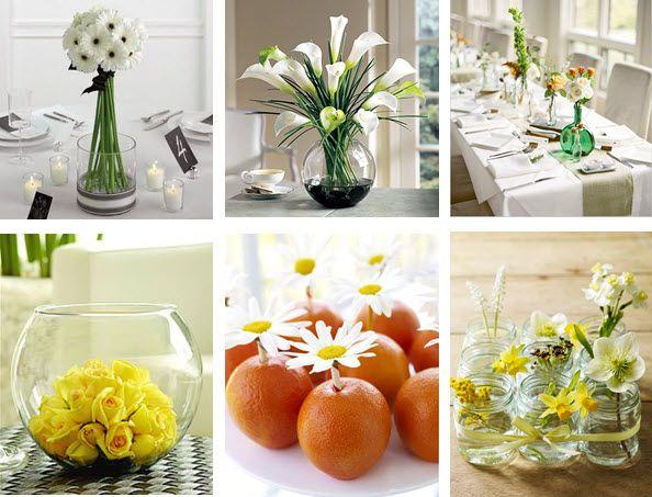 Arranjos de flores para mesas mais ideias sobre arranjos - Capazos baratos para decorar ...