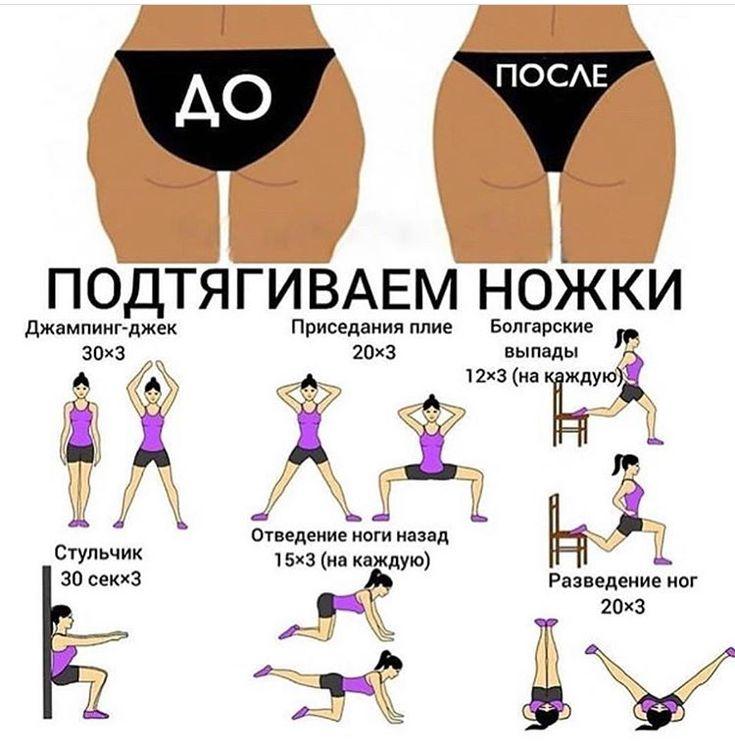 Упражнения на бедра для похудения