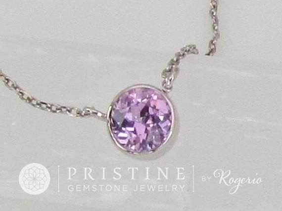 Purple Sapphire Layering Necklace Keepsake Gift for Her #birthday #christmas_gift #for_her
