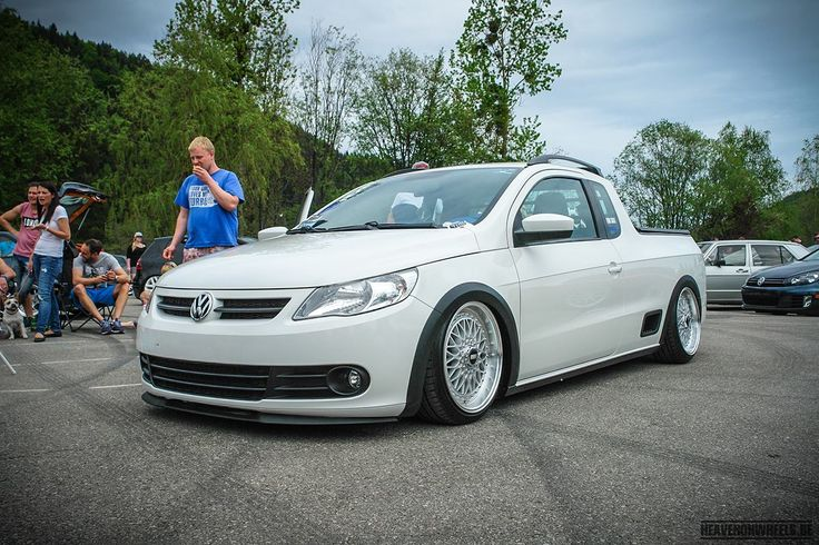 Saveiro at the Wörthersee Tour 2015. Remarkable, because the Saveiro isn't on sale in the EU.