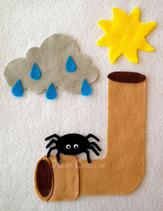 Bring the classic childrens song Itsy Bitsy Spider to life with this fun felt set!    * Excellent for circle time or play at home *    Includes:  1