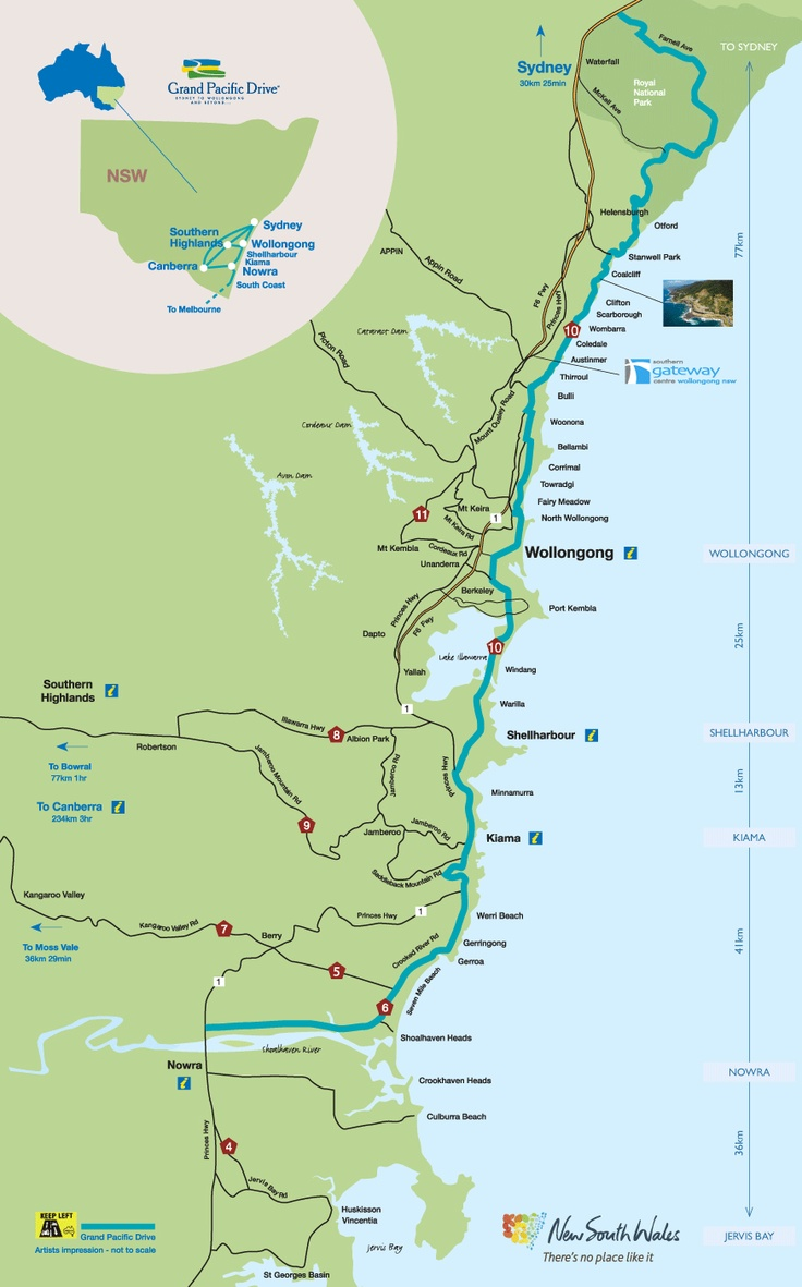 Map of the Illawarra on the New South Wales South Coast, Australia. Two months!