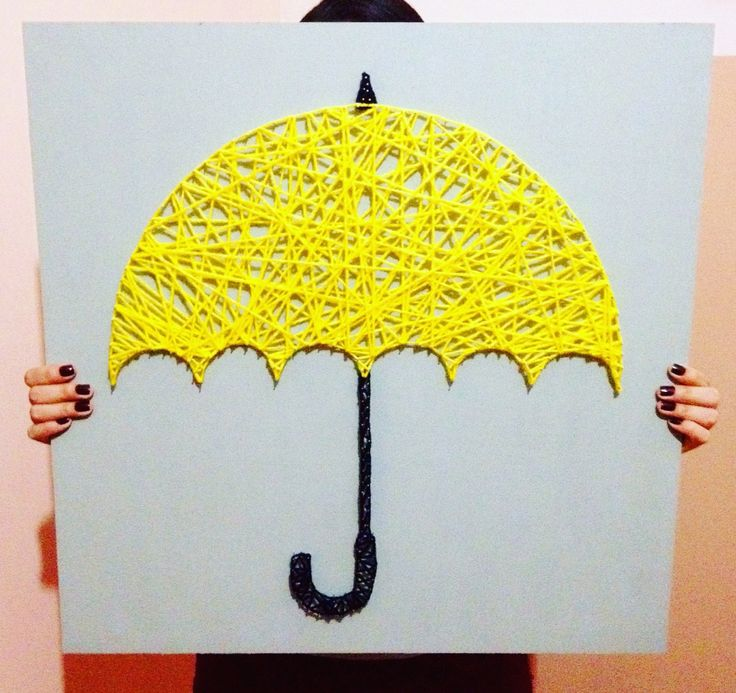 String Art Yellow Umbrella, How I Met Your Mother