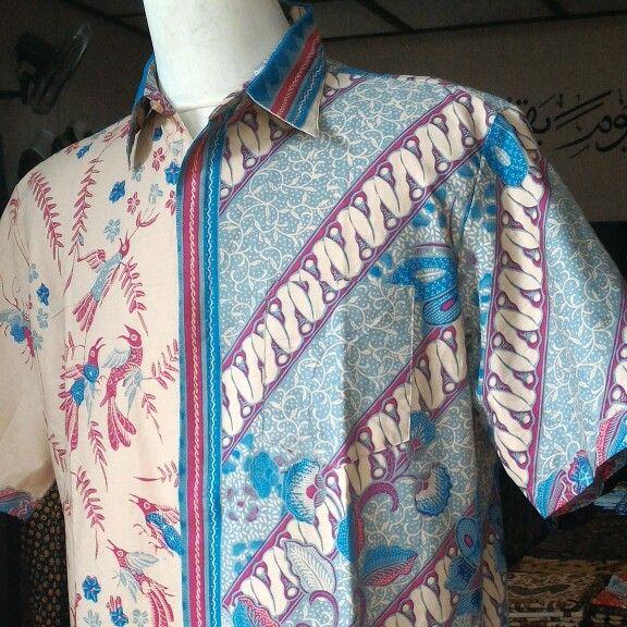 Kemeja print cabut warna motif pagi-sore, harga Rp 85.000