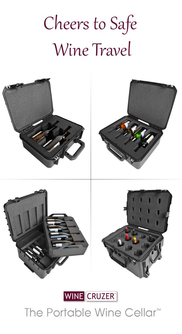 From two bottles up to 24, safely transport wine from your favorite wineries while maintaining placement temperature for six to eight hours. Explore our entire collection of WineCruzer portable wine cellars.