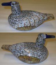 Oiva Toikka Female Duck Art Bird 1994 Naaras Sorsa Nuutajarvi Finland