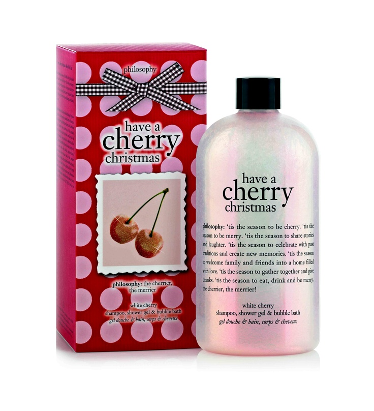 philosophy have a cherry christmas white cherry shampoo, shower gel and bubble bath 480ml - $30.00Showers, Beautiful, Philosophy, Bubbles Bath, Shower Gel, Christmas Gel, Products, Bubble Baths, Cherries Christmas