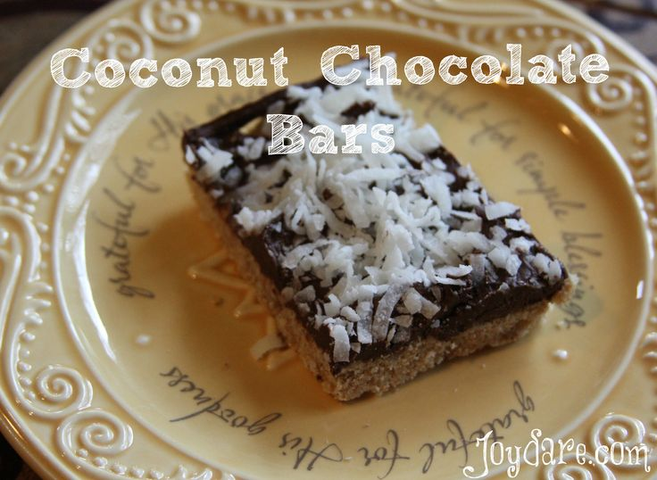 ... To Try | Pinterest | Coconut Chocolate, Chocolate Bars and Coconut