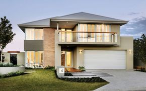 Fachadas de casas de dos pisos con techo a 4 aguas
