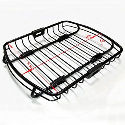 LT Sport SN#100000000781-224 For Jeep Top Steel Black Roof Cargo Luggage Carrier Basket. For product info go to:  https://www.caraccessoriesonlinemarket.com/lt-sport-sn100000000781-224-for-jeep-top-steel-black-roof-cargo-luggage-carrier-basket/