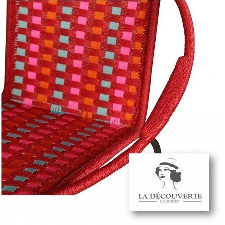 FAUTEUIL MIX ROUGE 'TOGO'