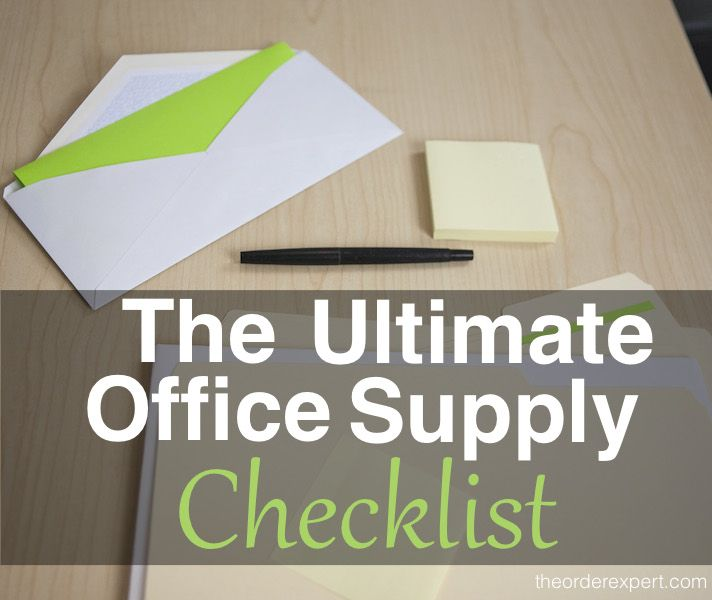 The Ultimate Office Supply Checklist