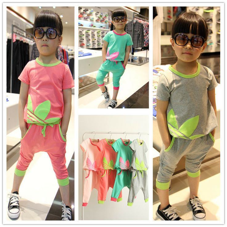 Free shipping in the summer of 2014 the new classic leaf print virgin suit children's wear € 9,09