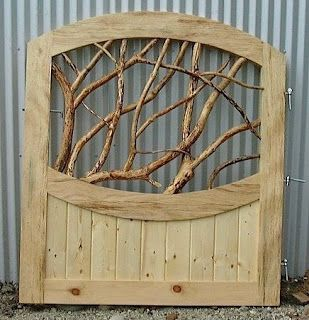 Garden Gate Made From Pallets And Branches --- #pallets