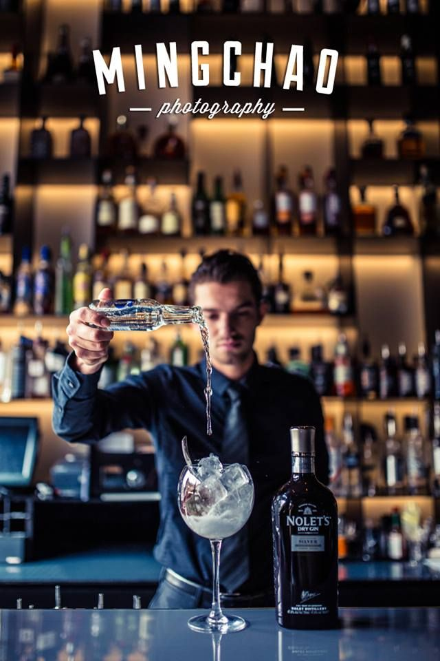 Our Bar Manager Tim creating a delicious Gin \ Tonic in Tunes Bar - bar manager