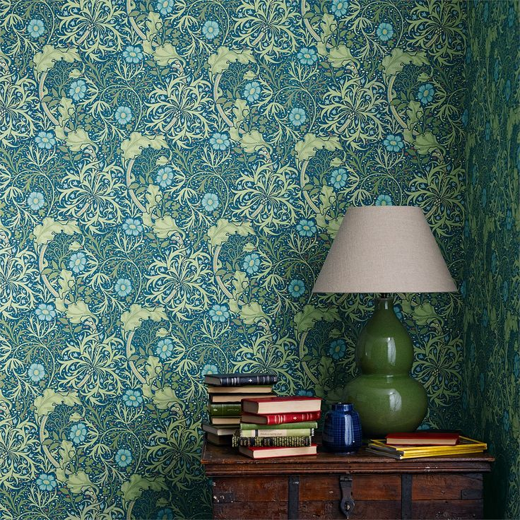 The Original Morris & Co - Arts and crafts, fabrics and wallpaper designs by William Morris & Company | Products | British/UK Fabrics and Wallpapers | Morris Seaweed (DM3W214714) | Archive III Wallpapers