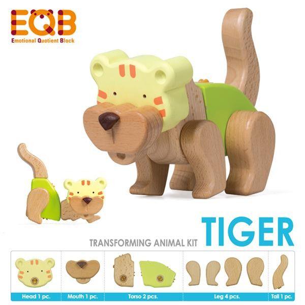 Emotional Quotient Blocks Australia -  EQB Animal Series - Tiger - Growing Footprints - 2