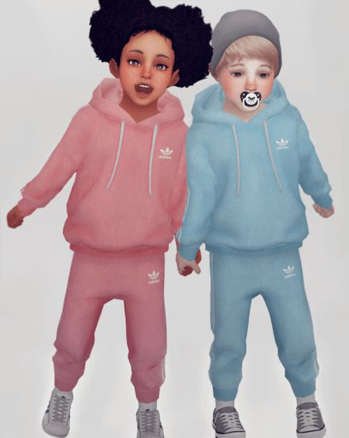 Unisex Toddler Jogger set for The Sims 4