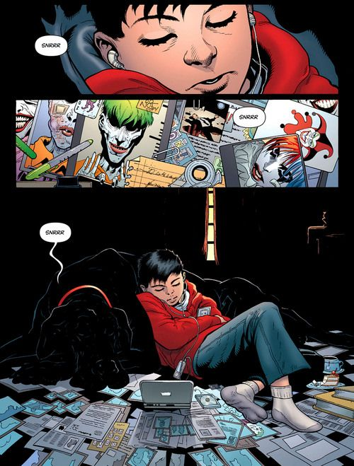 Damian Wayne and Titus gosh..... He'll probably hate me saying this but this is REALLY cute!
