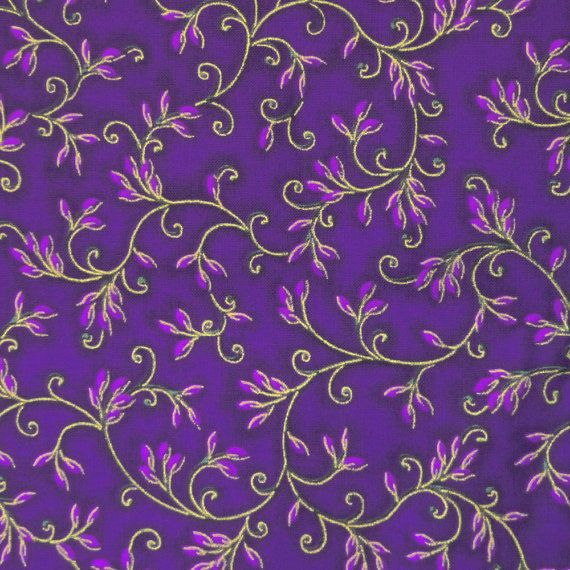 Dark Purple Vine Quilting Material F2019 by FabricMuse on Etsy  https://www.etsy.com/listing/198407799/dark-purple-vine-quilting-material-f2019?ref=shop_home_active_5