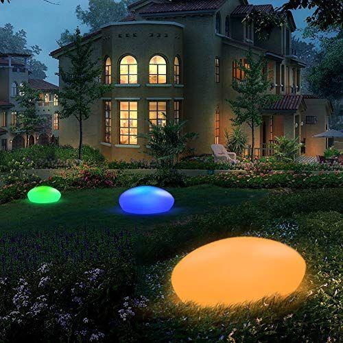 Geediar Luz Solar Exterior 16 Colores Ajustables Ip67 Impermeable
