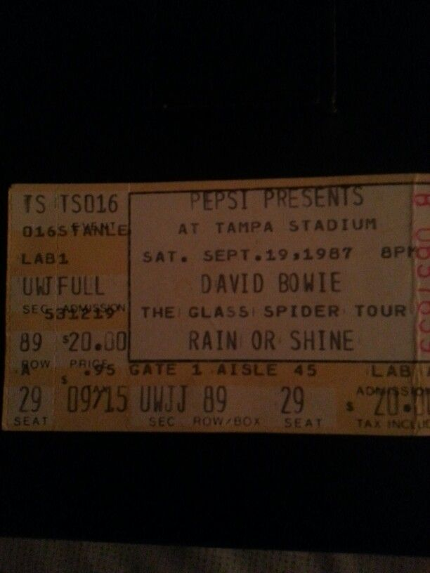 """An old concert ticket from my """"Rockin"""" years. $20 Ticket price ! Will Never be  that price ever again.."""
