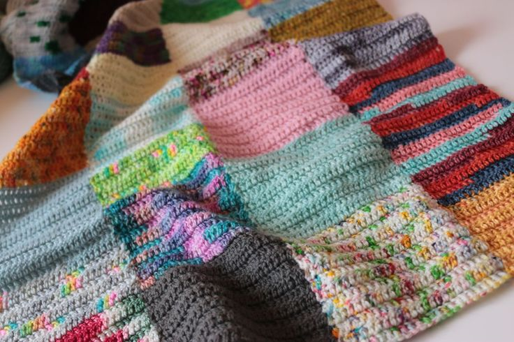 Scrappy Squares Blanket A Collection of the Best Crochet Blogs. Get the Top Stories on Crochet in your inbox