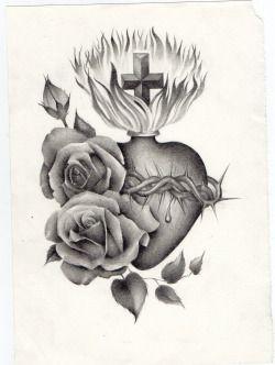 best 25 sacred heart tattoos ideas on pinterest. Black Bedroom Furniture Sets. Home Design Ideas