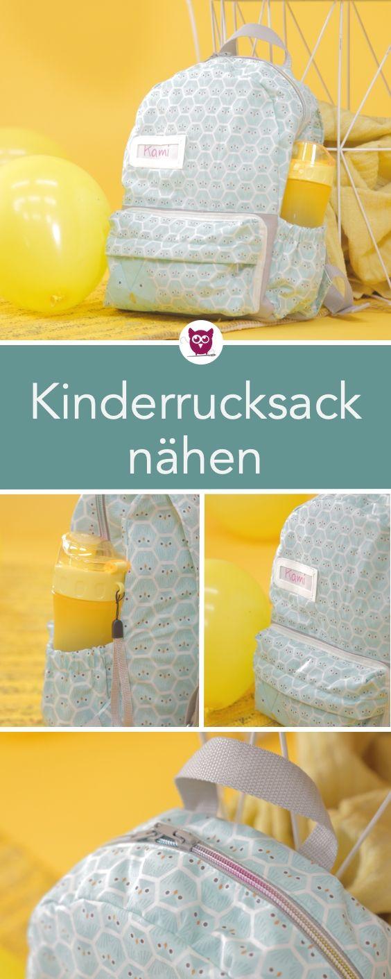 #KinderrucksackKami aus dem #DIYeuleBuch: Kinderrucksack nähen mit Schnittmuste...