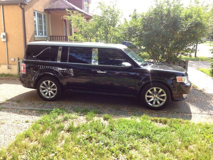 Ford Flex Limited Custom Designed Landau Bars And Chrome Pillar Covers Giving It A