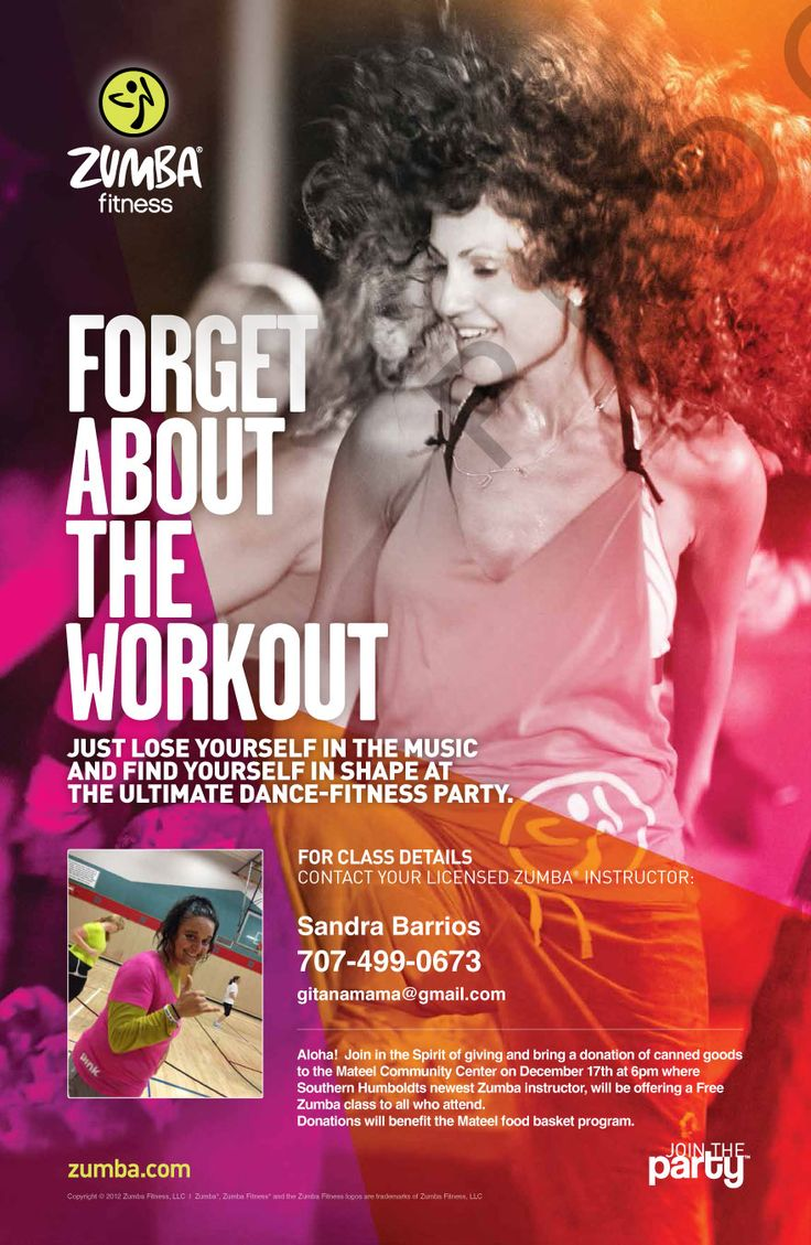 ZUMBA Party Poster poster inspirations Pinterest
