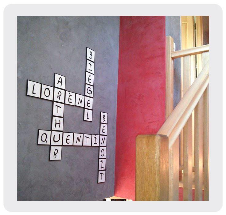 Lettres décoratives à la commande mots croisés mots fléchés 10 x 10 cm