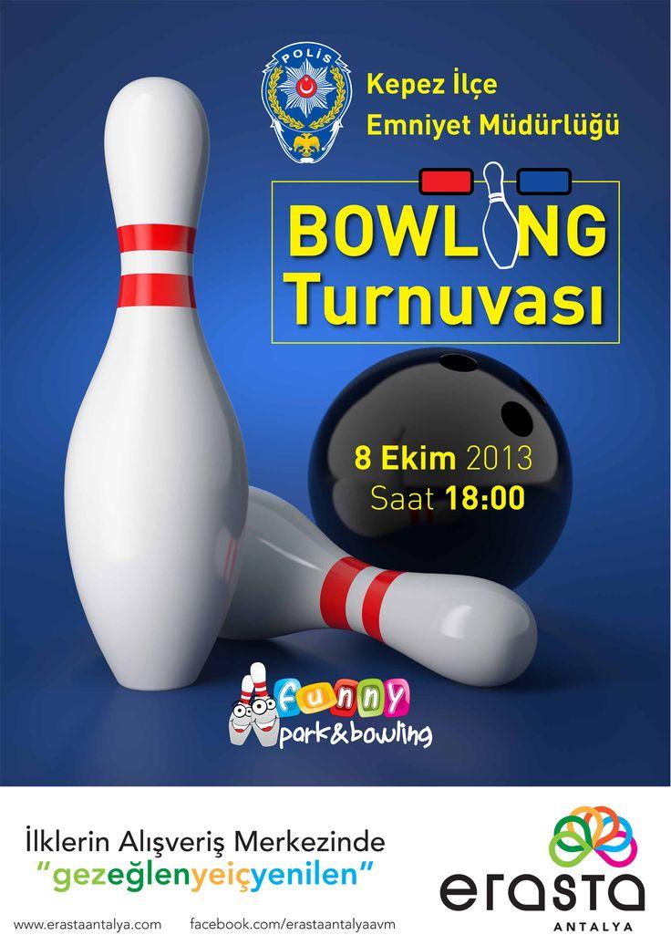 Kepez İlçe Emniyet Müdürlüğü tarafından düzenlenecek Bowling Turnuvasında yarın yarışacak tüm katılımcılara Erasta Antalya Alışveriş Merkezi ailesi olarak başarılar diliyoruz!