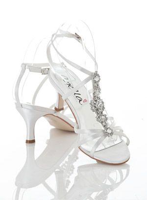 Awesome Wedding Shoes ... Rachelle - Anella Wedding Shoes - Mid Heel