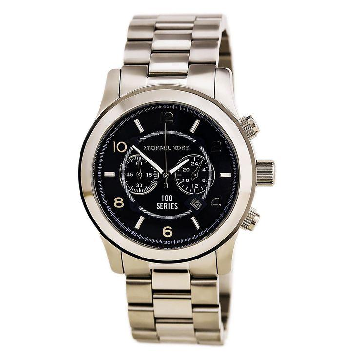 Michael Kors MK8314 Men's Hunger Stop 100 Series Navy Blue Dial Chrono Oversized Watch