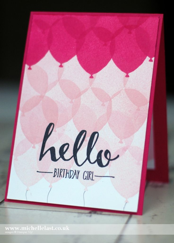 balloon celebration stampin up cased from Laura Bassen